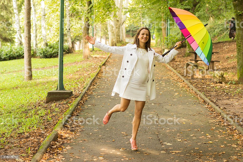 autumn happiness stock photo