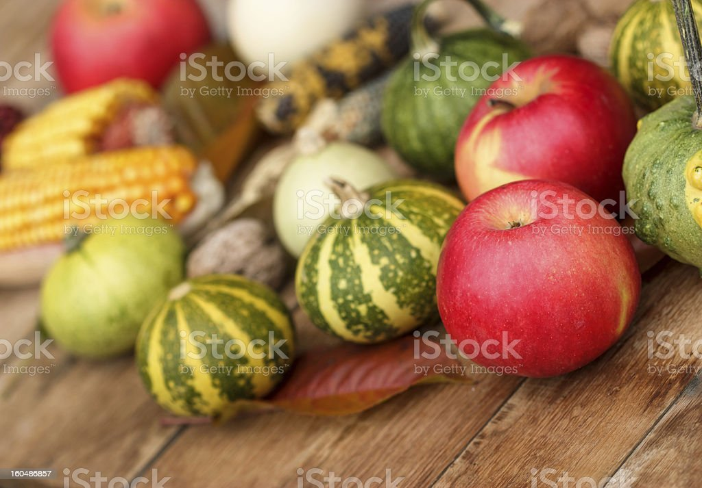 Autumn harvest on the table royalty-free stock photo