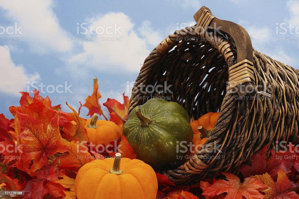 Autumn Harvest Scene stock photo