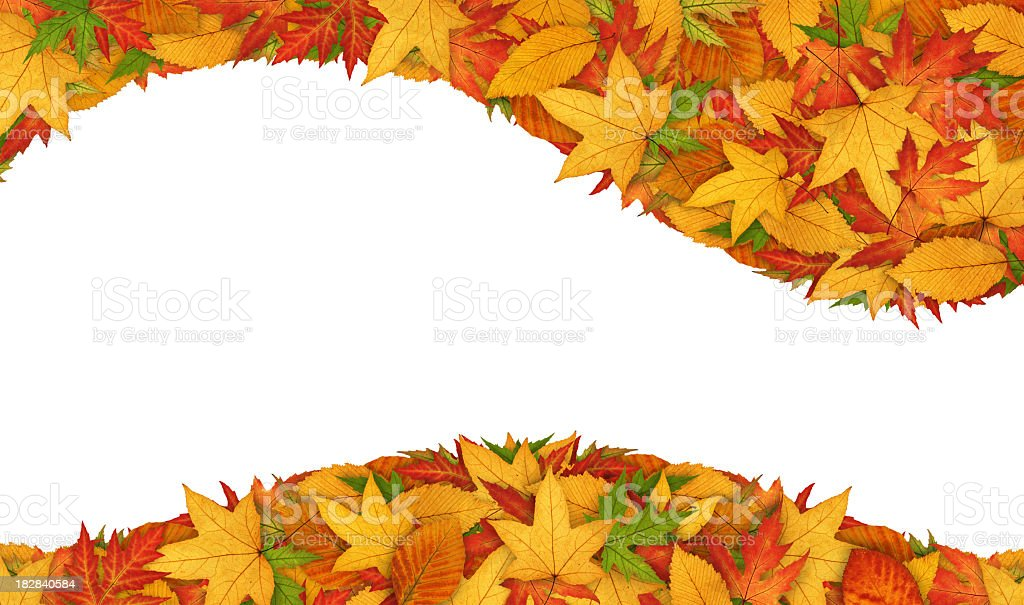 Autumn Header And Footer stock photo