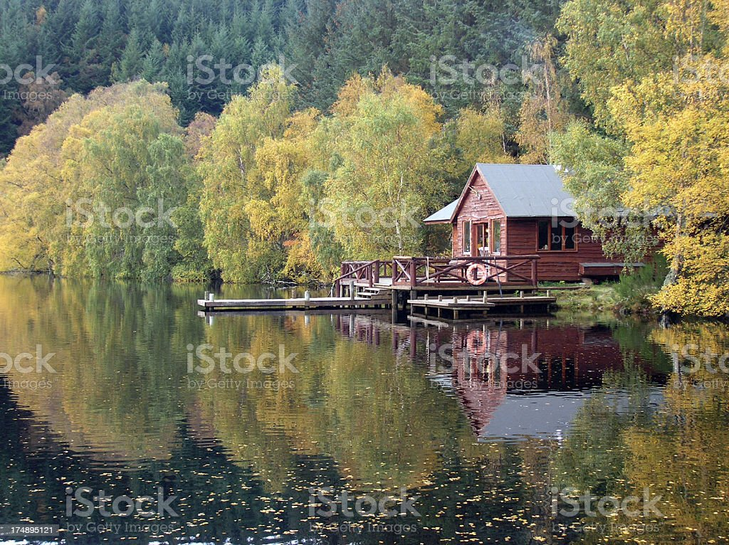 Autumn Hide Away royalty-free stock photo