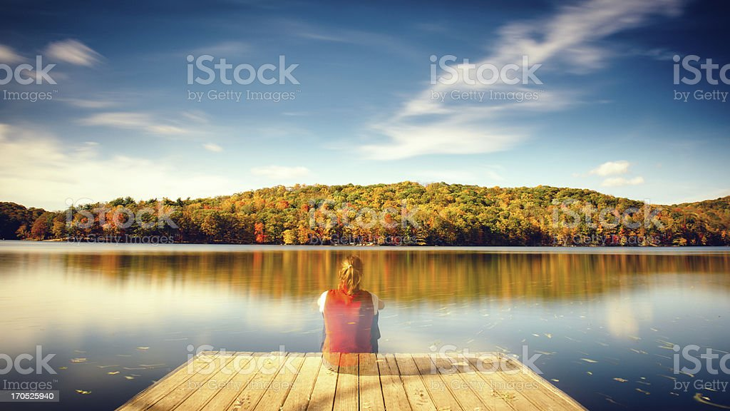 Autumn Hike royalty-free stock photo