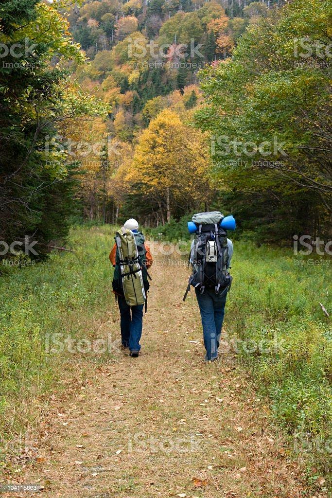 Autumn Hiking royalty-free stock photo