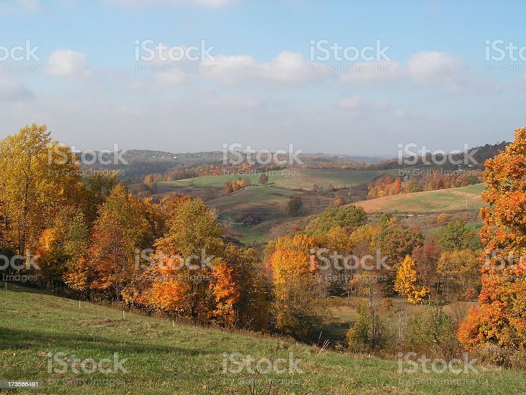 Autumn Hills and valleys royalty-free stock photo