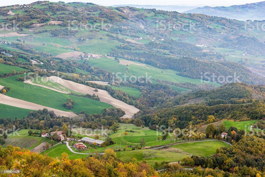Autumn Hills stock photo