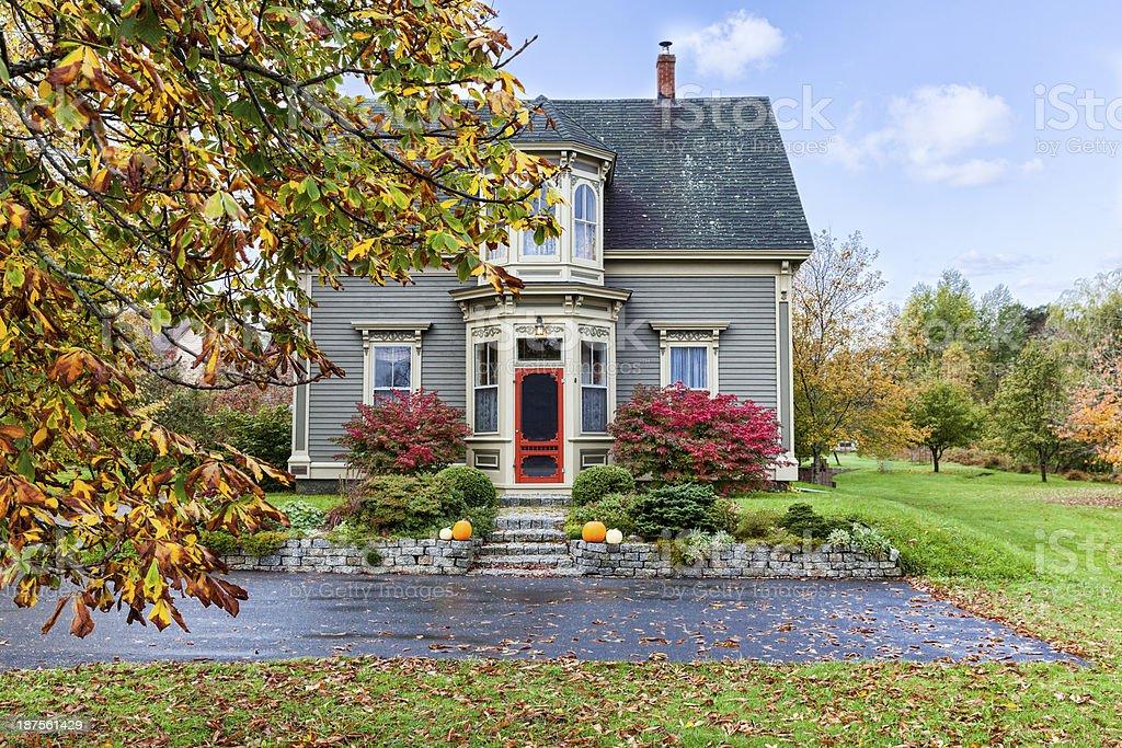 Autumn Home stock photo
