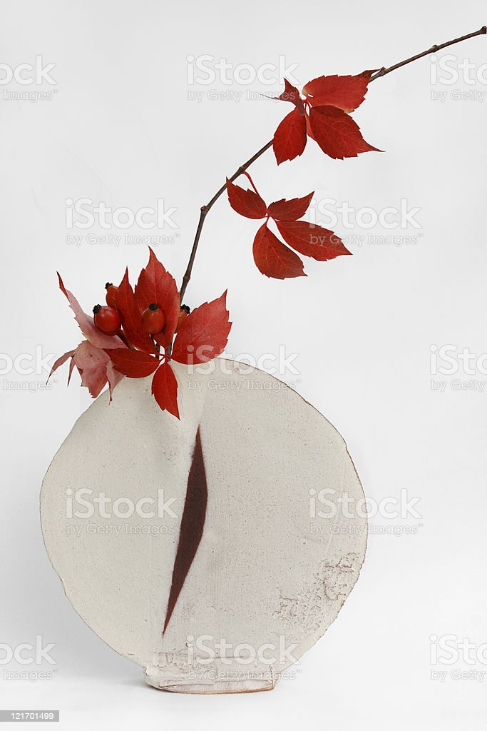 ikebana d'automne stock photo