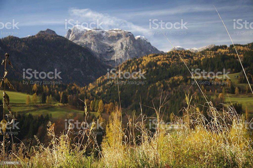 autumn in austrian alps stock photo