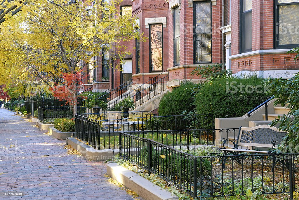 Autumn in Back Bay royalty-free stock photo