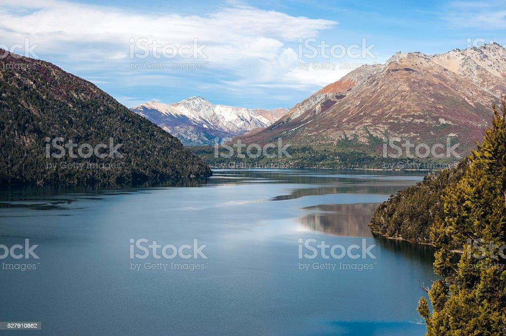 Autumn in Bariloche, Patagonia, Argentina stock photo