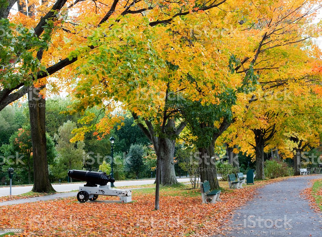 Autumn in Battlefields Park Quebec City Canada stock photo