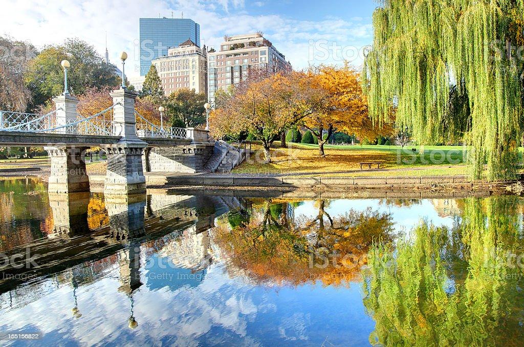 Autumn in Boston stock photo