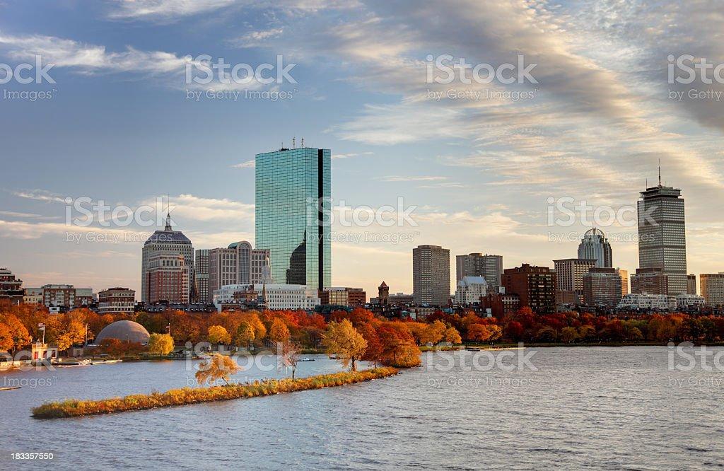 Autumn in Boston royalty-free stock photo