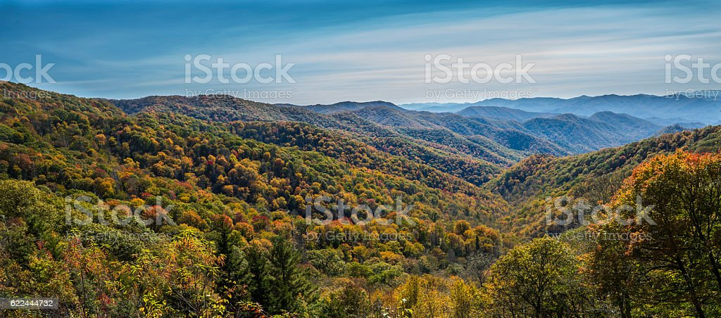 Autumn in Cherokee stock photo