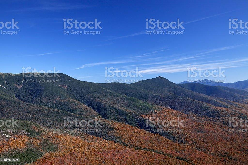 Autumn in Franconia Notch stock photo