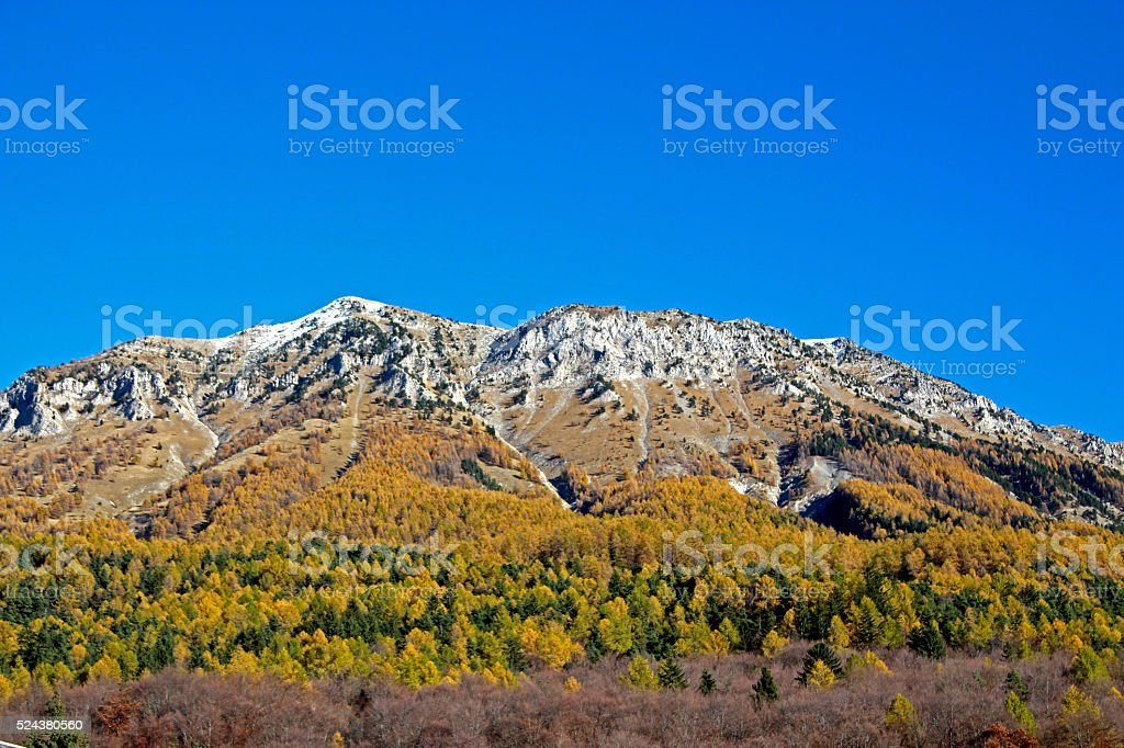 Autumn in french apls stock photo