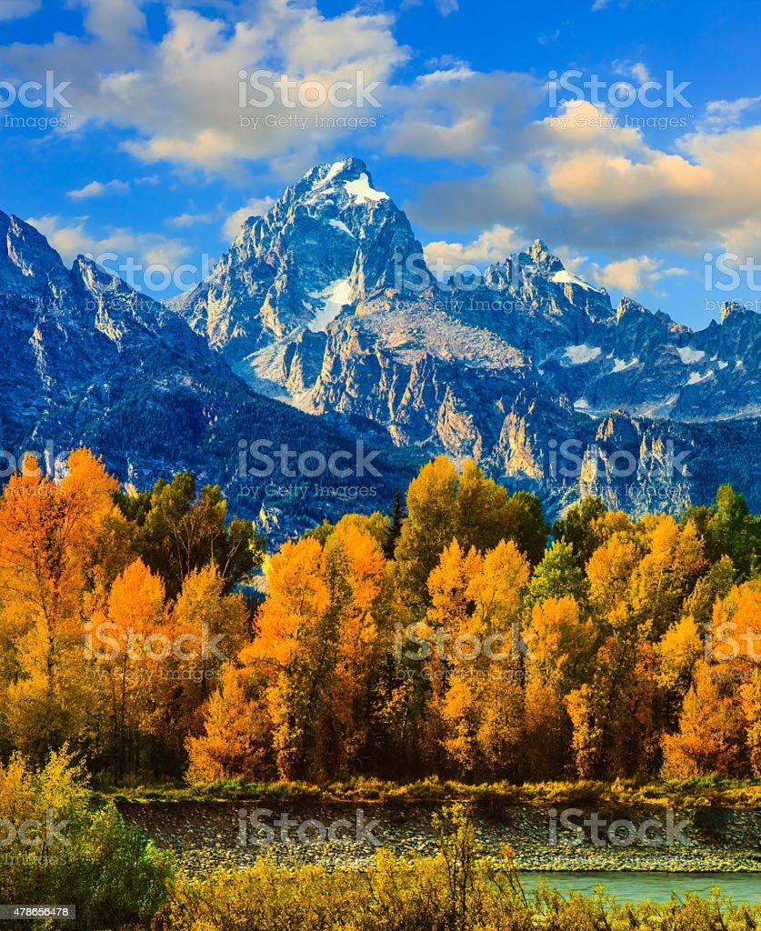 Autumn in Grand Teton Natoinal Park stock photo
