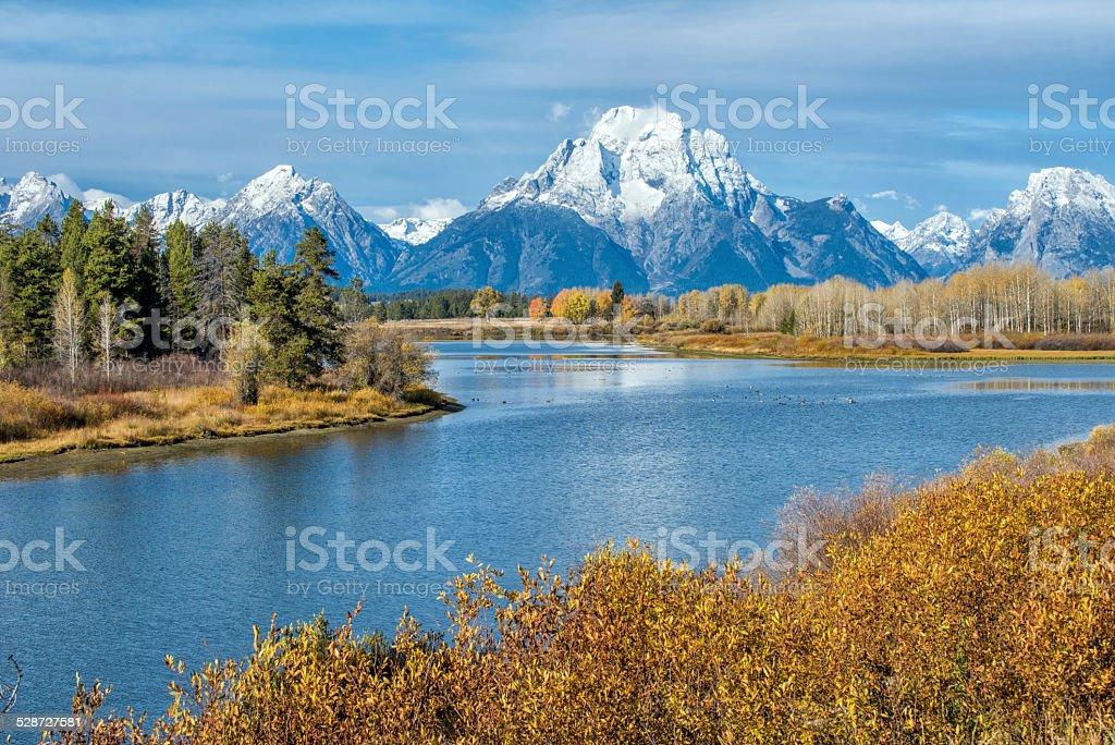 Autumn in Grand Teton, Wyoming stock photo