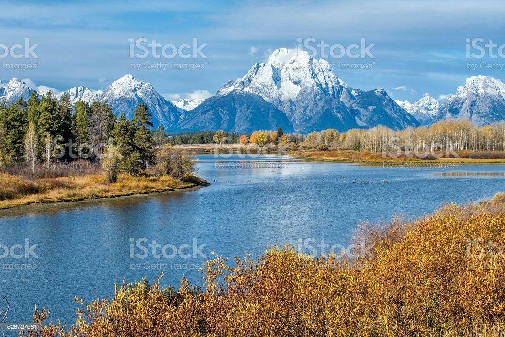 Autumn in Grand Teton, Wyoming stock photo