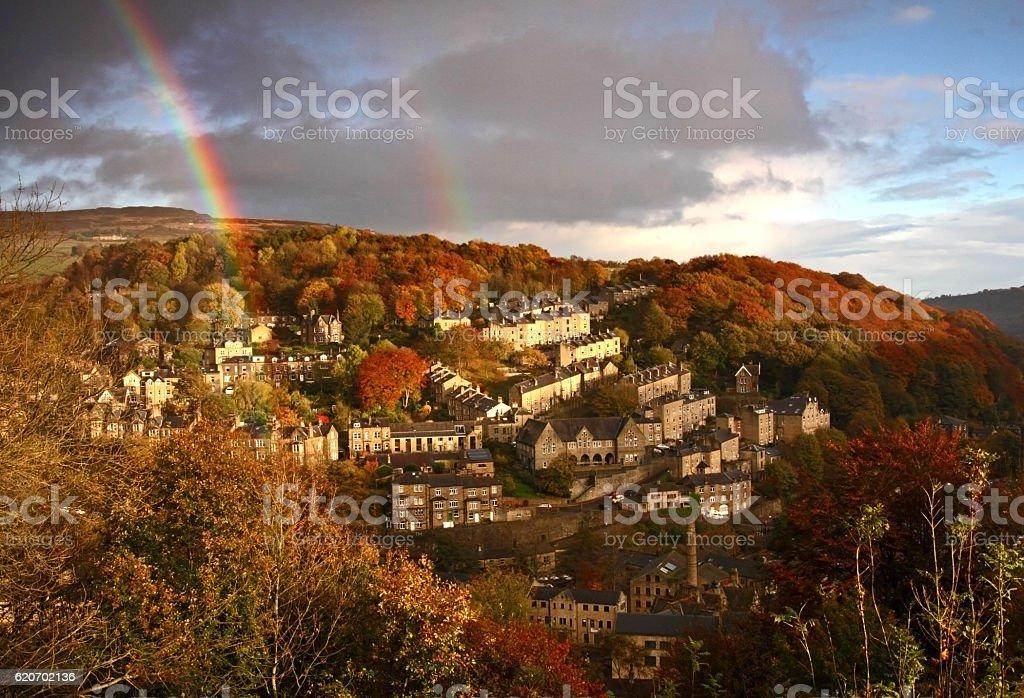 Autumn in Hebden Bridge stock photo