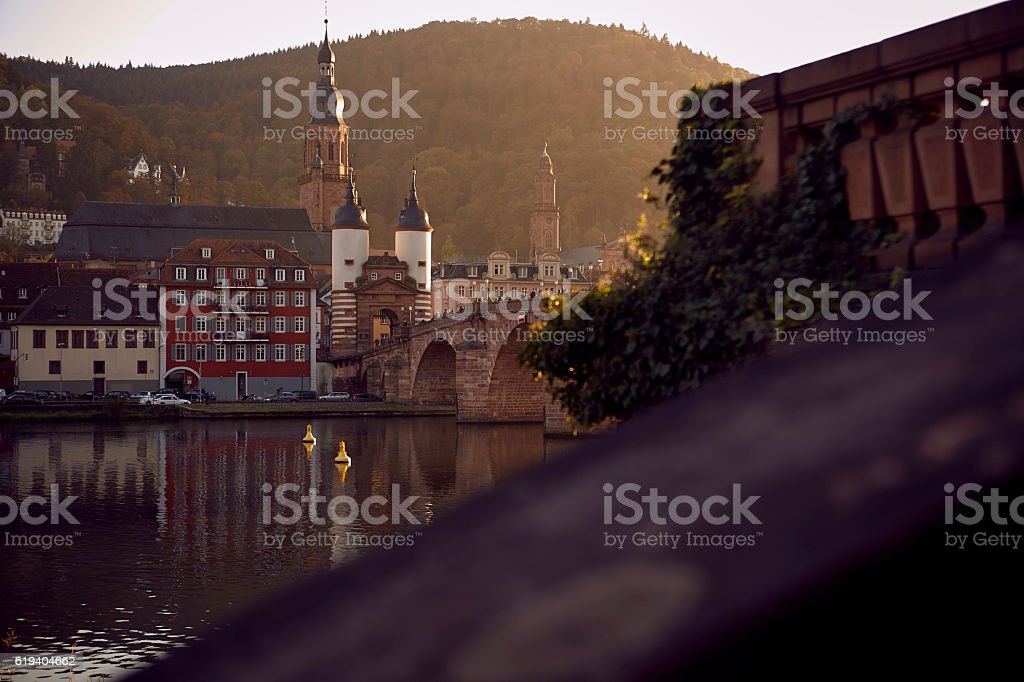 Autumn in Heidelberg in Germany stock photo