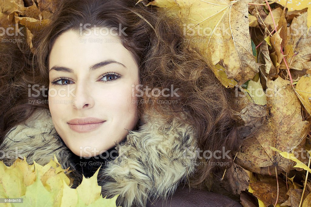autumn in her eyes royalty-free stock photo