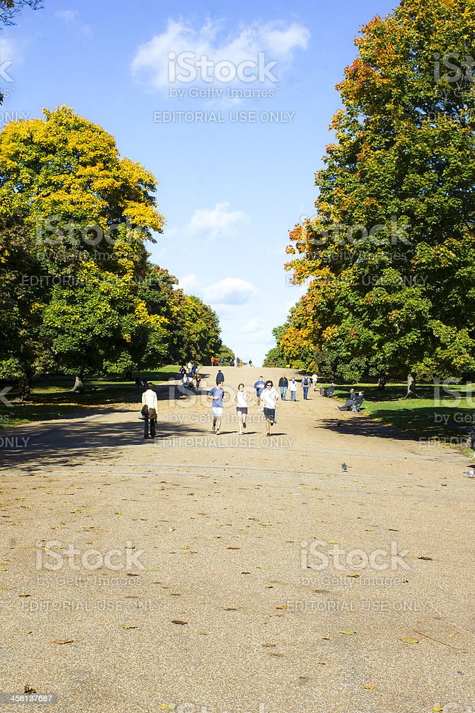 Autumn in Hyde park London royalty-free stock photo