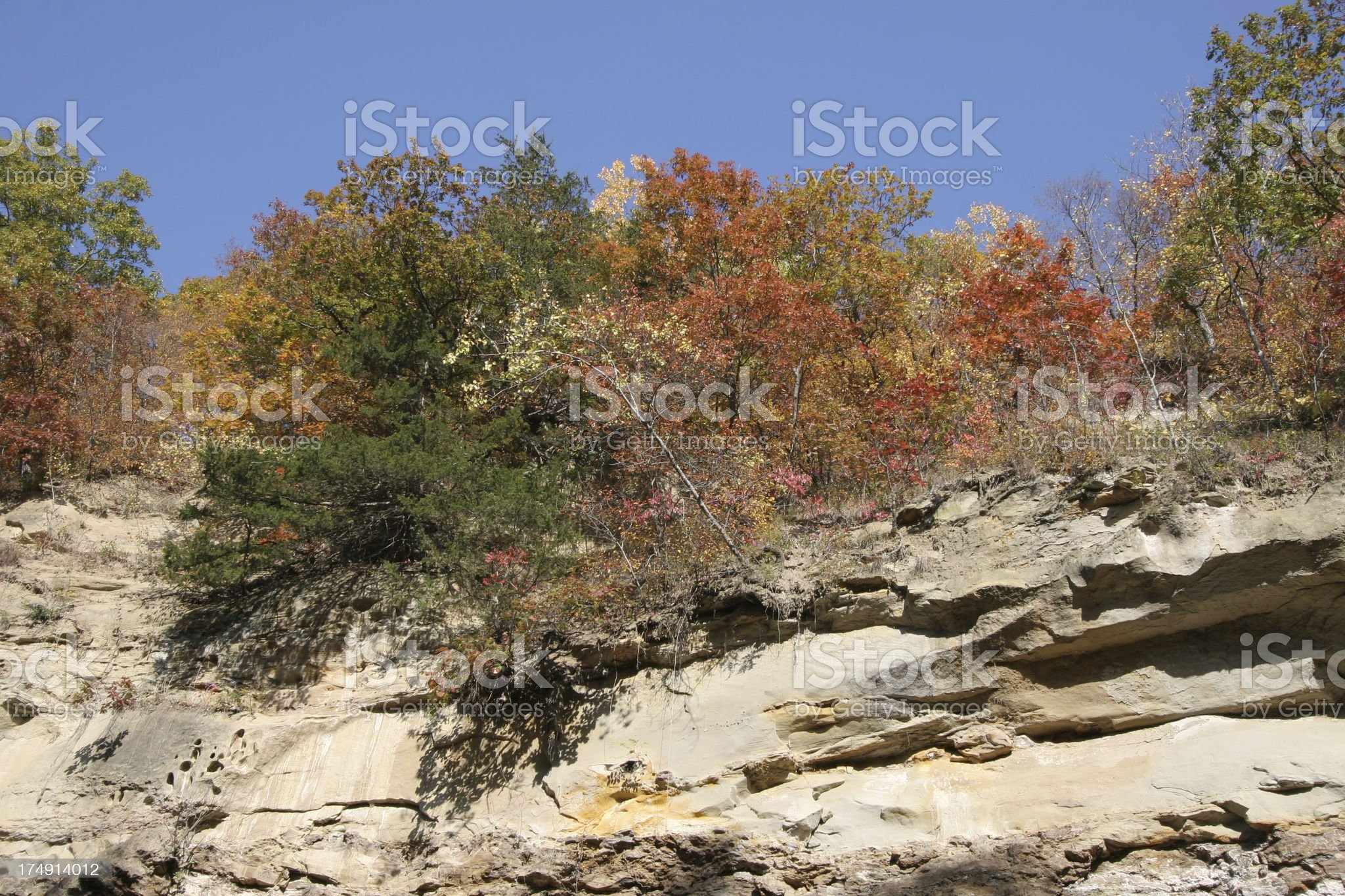 Autumn in Iowa royalty-free stock photo