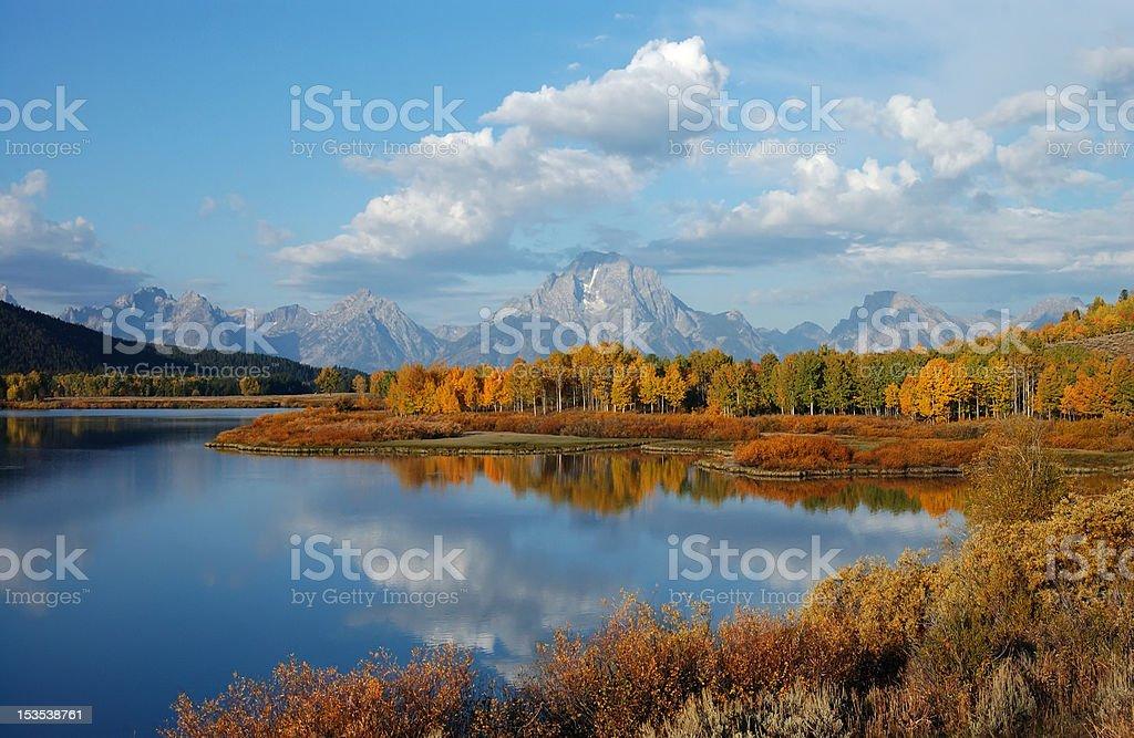 autumn in jackson hole royalty-free stock photo
