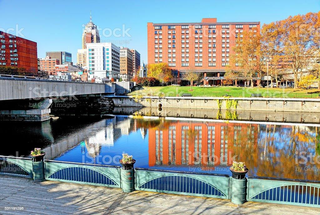 Autumn in Lansing Michigan stock photo