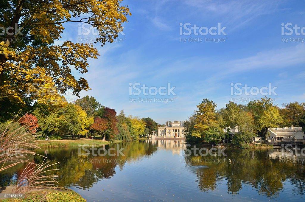 Autumn in Lazienki stock photo