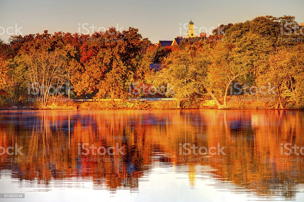 Autumn in Lowell stock photo