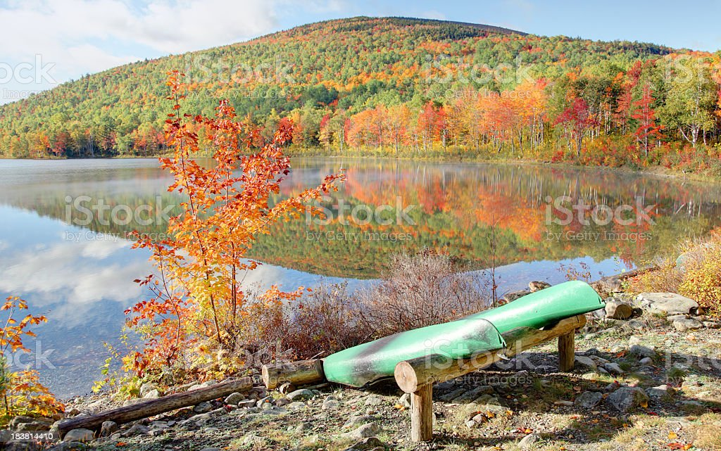 Autumn in Maine stock photo