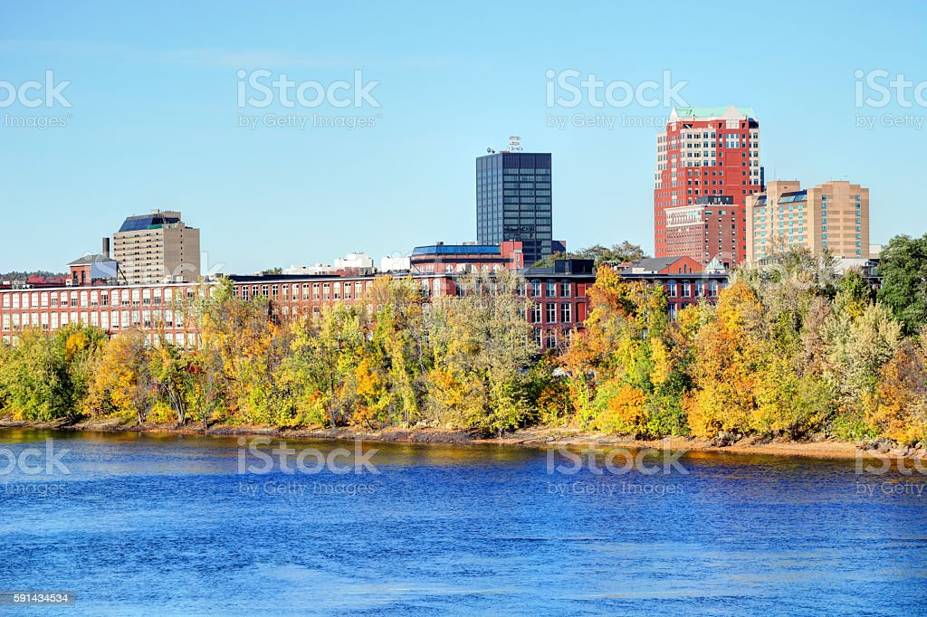 Autumn in Manchester New Hampshire stock photo