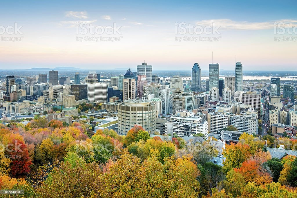 Autumn in Montreal, Quebec, Canada stock photo