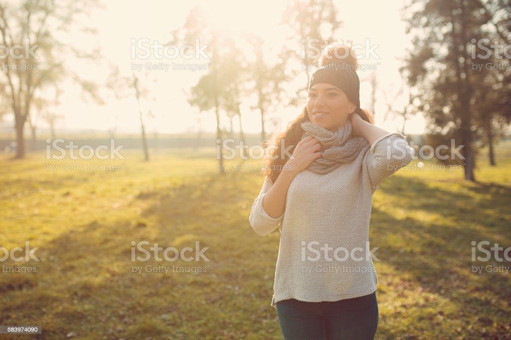 Autumn in my park stock photo
