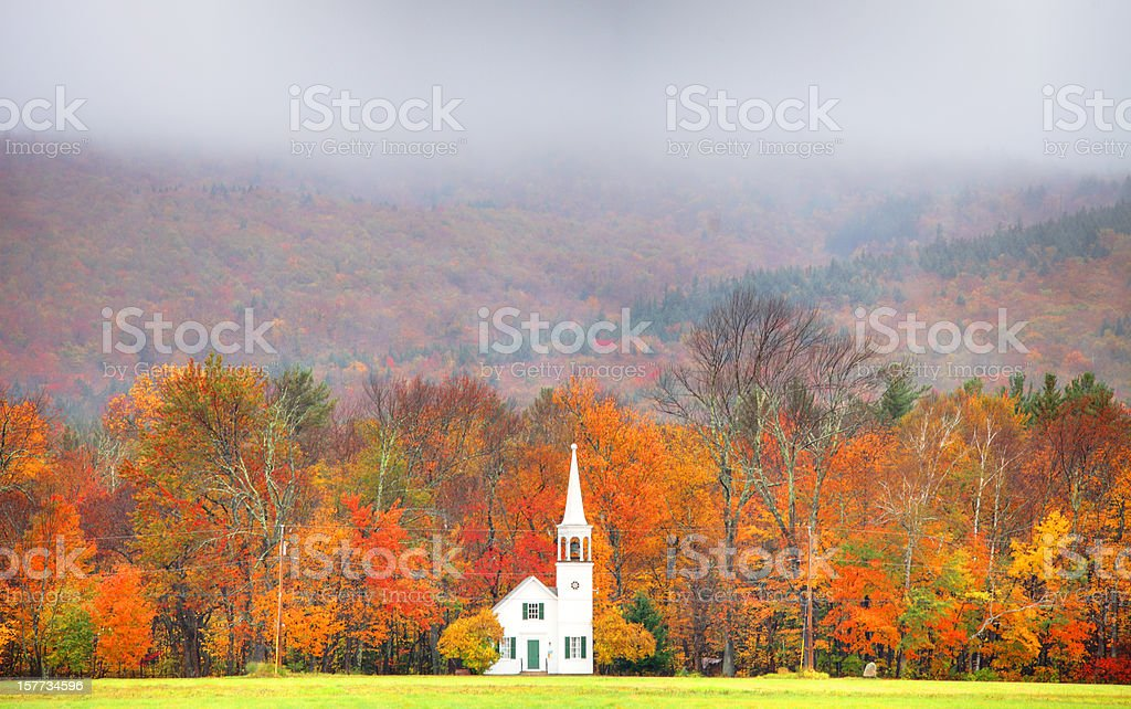 Autumn in New England stock photo