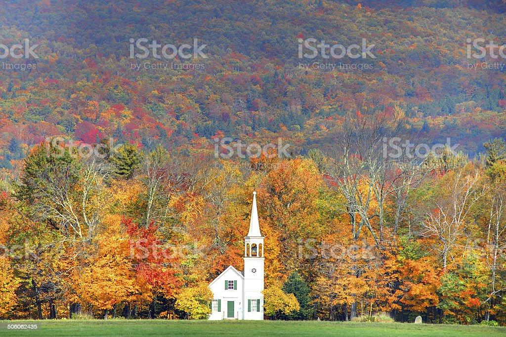Autumn in New England stock photo
