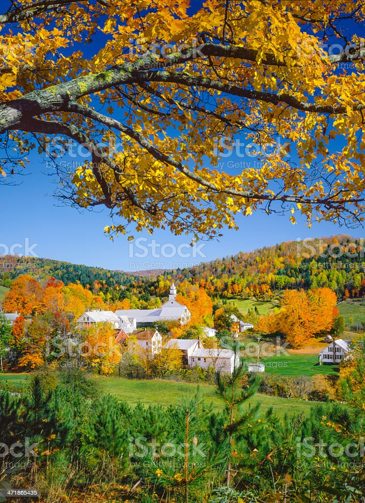 Autumn in New England. Vermont royalty-free stock photo