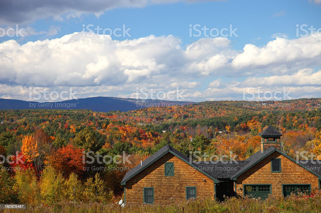 Autumn in New Hampshire royalty-free stock photo