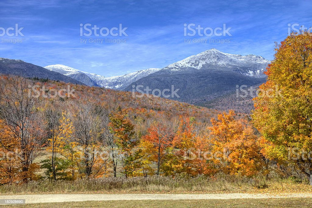Autumn in New Hampshire stock photo