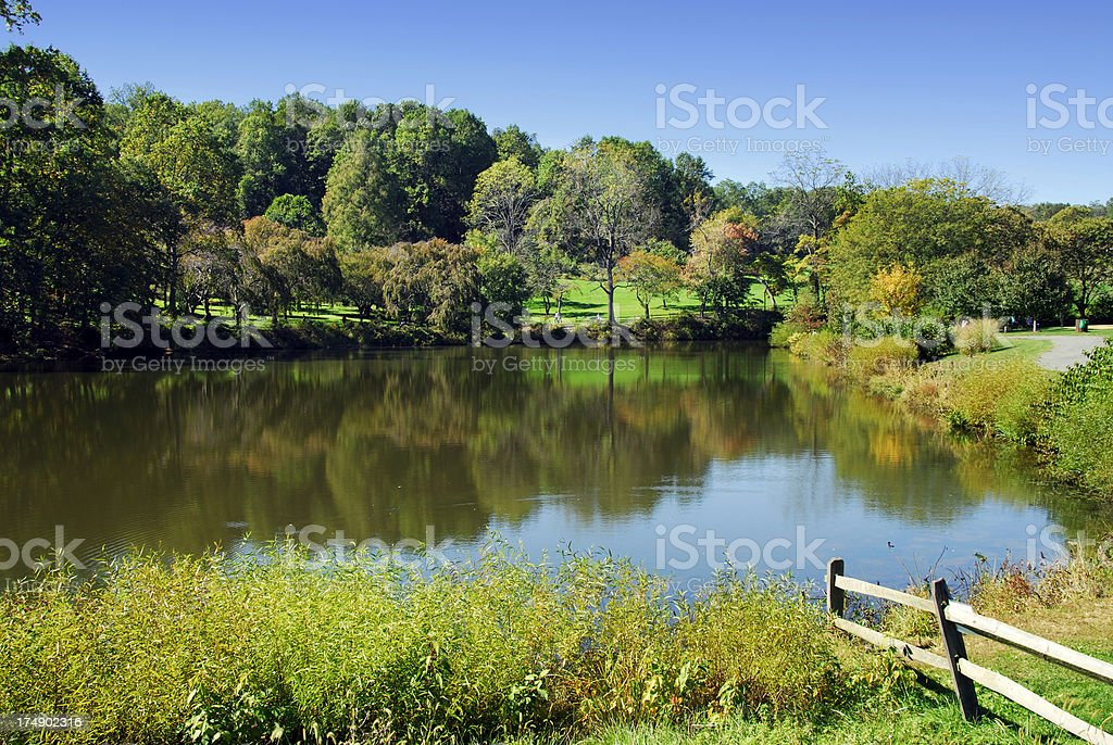Autumn in New Jersey stock photo