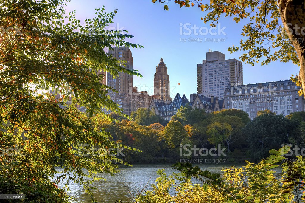 Autumn in New York - Central Park West. stock photo