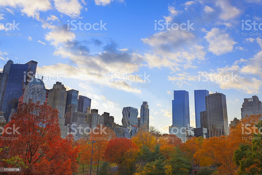 Autumn in New York royalty-free stock photo