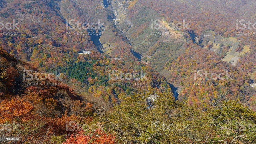 Autumn in Oku-Nikko stock photo