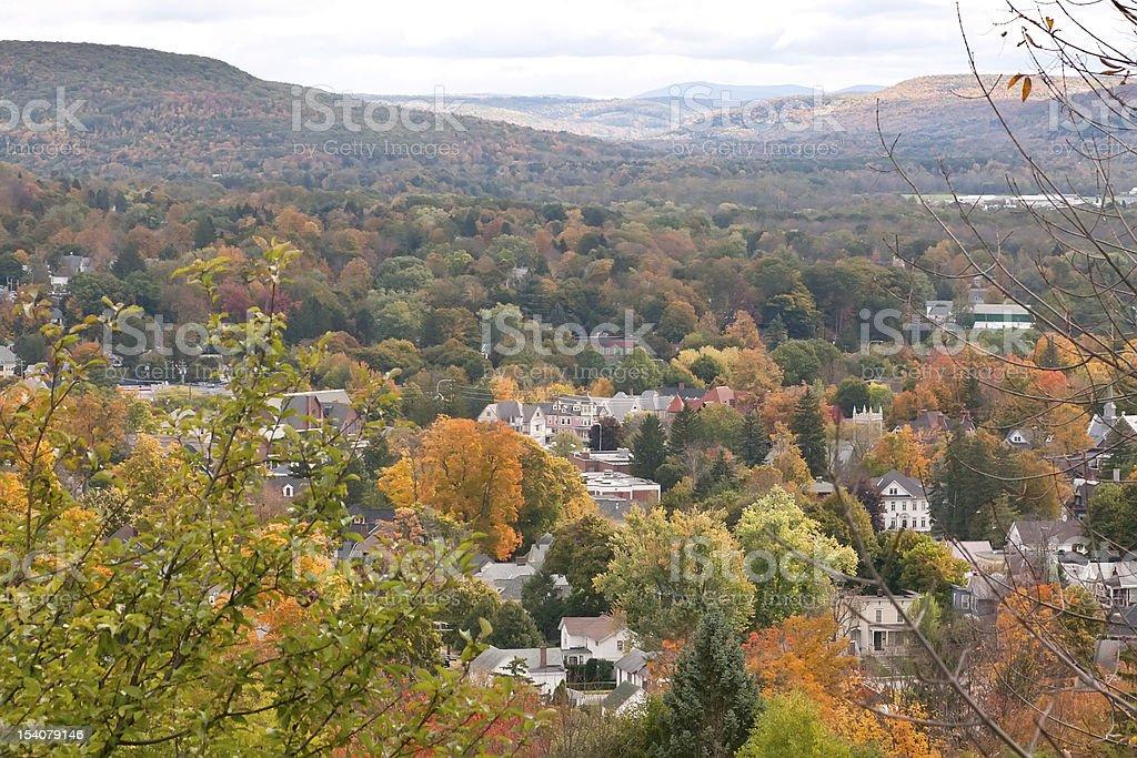 Autumn in Oneonta, New York stock photo