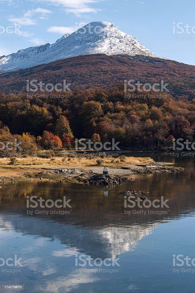 Autumn in Patagonia. Cordillera Darwin, Tierra del Fuego stock photo