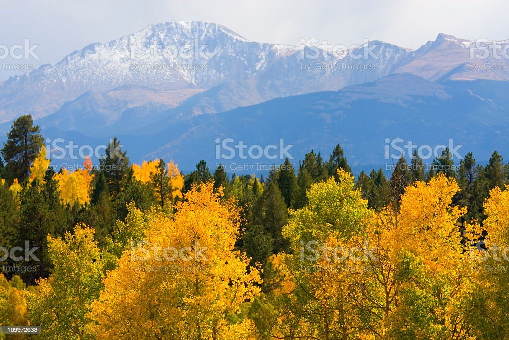 Autumn in Pike National Forest stock photo