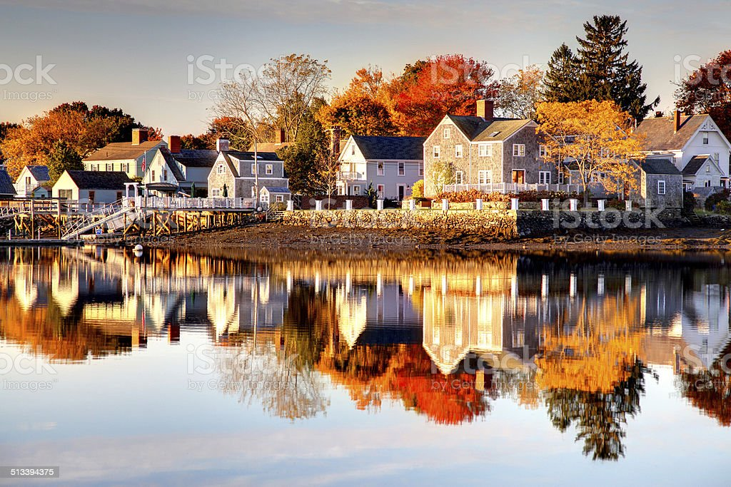 Autumn in Portsmouth, New Hampshire stock photo
