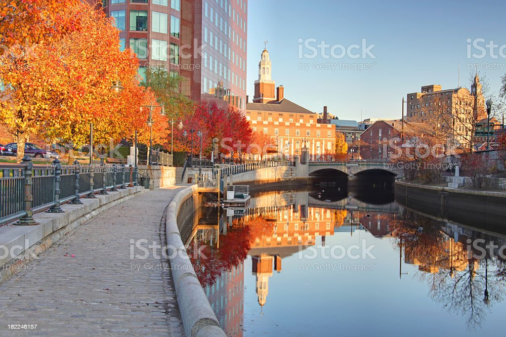 Autumn in Providence Rhode Island stock photo